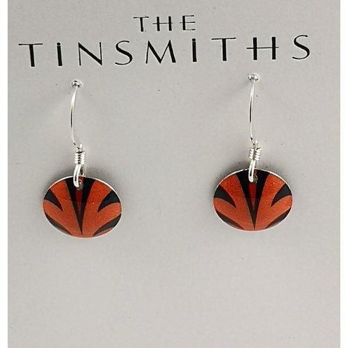 The Tinsmith Disc Orange Spritzdose & Silber Ohrringe 24
