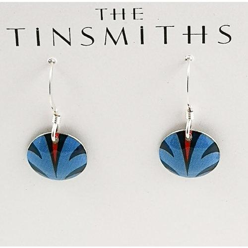 The Tinsmith Disc Blue Spritzdose & silberne Ohrringe 25