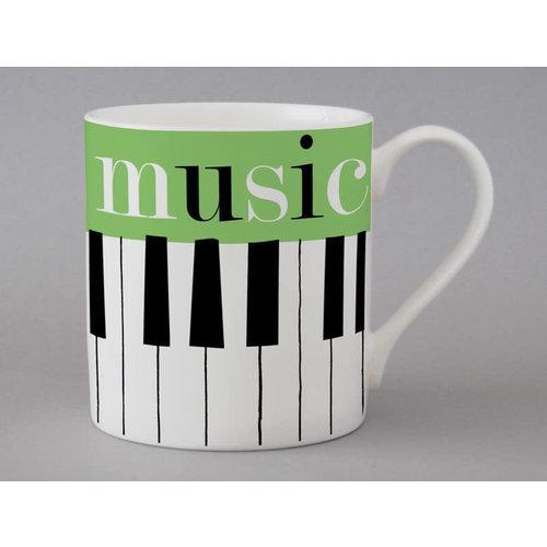Repeat Repeat Love Music taza grande verde 133
