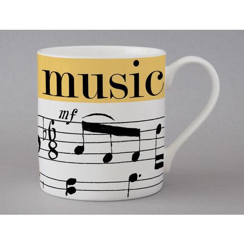 Repeat Repeat Music Music large mug Yellow 135