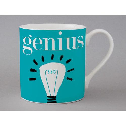 Repeat Repeat Genius large mug Blue 134