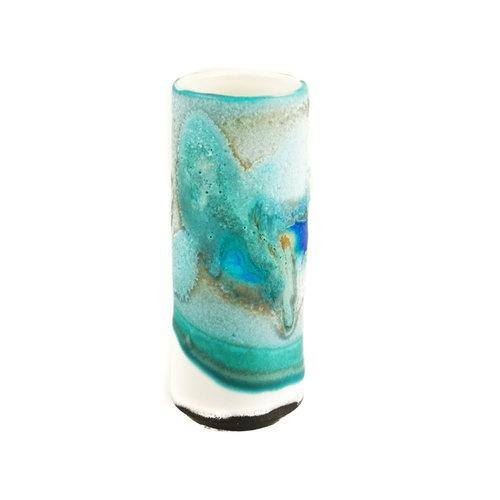 Anja  Stoneware Vaso de vainas de alféizar 28