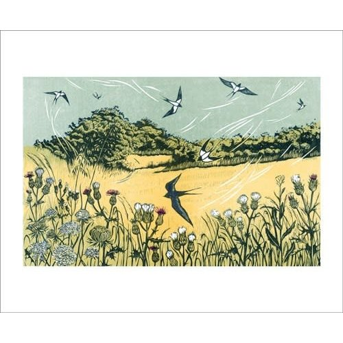 Art Angels Bayfield Swallows card by Niki Bowers