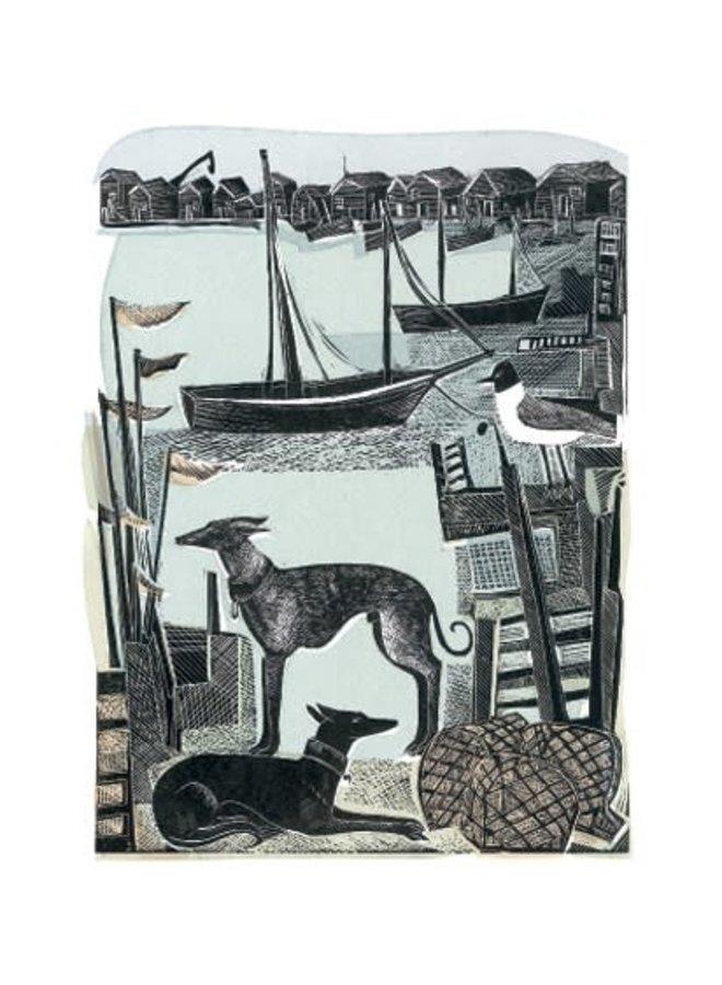 Harbour Whippets von Angela Harding