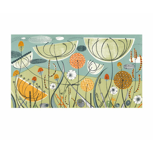 Art Angels Aliums & Fennel card by Angie Lewin