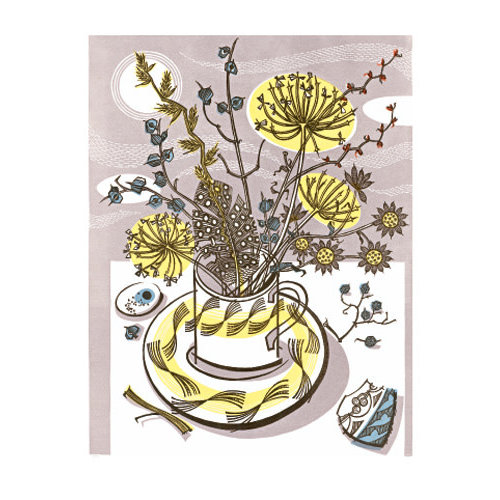 Art Angels Moonlit Cup card by Angie Lewin