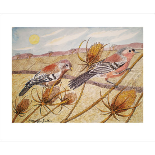Art Angels Late Summer Chaffinches card by Emily Sutton