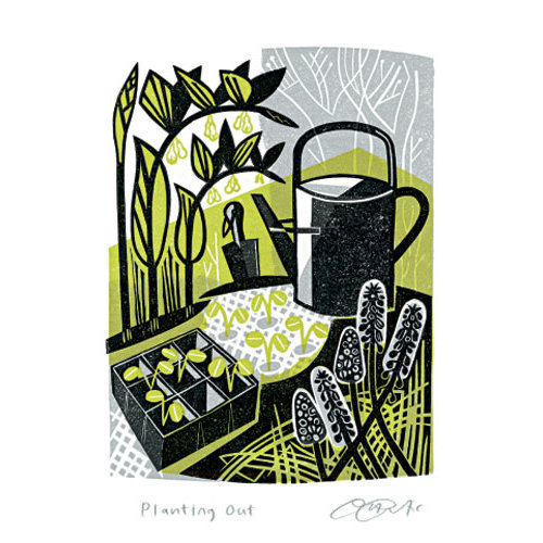 Art Angels Planting Out card by Clare Curtis