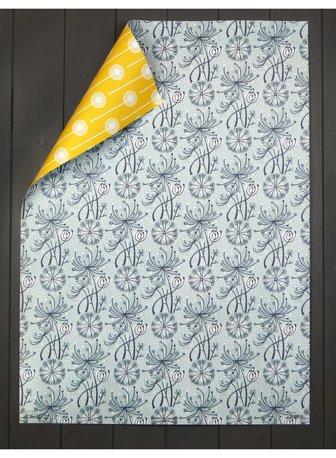 Dandelion Double gift wrap by Angie Lewin