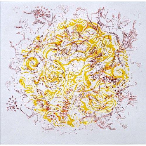 Shelley Burgoyne Magdalena 12 etching & linocut framed 07