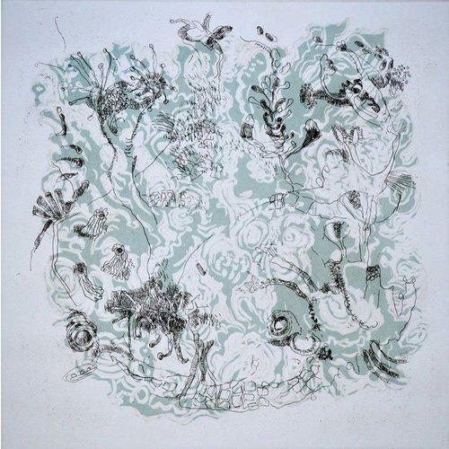 Shelley Burgoyne Magdalena 3 etching & linocut framed 06