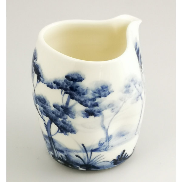 Wooded Landscape  porcelain  hand painted  pouring jug 034