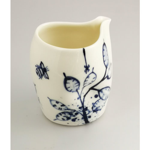 Mia Sarosi Honesty and Bees porcelain  hand painted  pouring jug 037