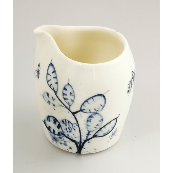 Honesty and Bees porcelain  hand painted  pouring jug 037