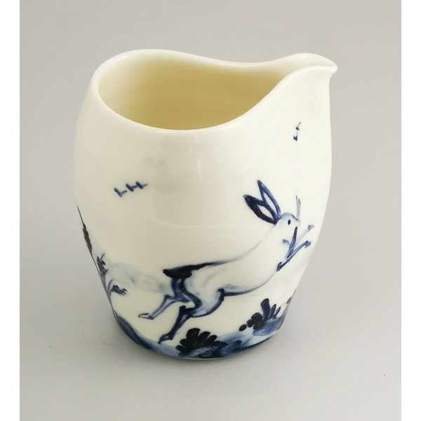 Hares  porcelain  hand painted  pouring jug 040