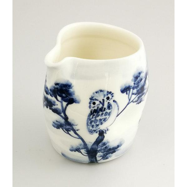 Owls porcelain  hand painted  pouring jug 043