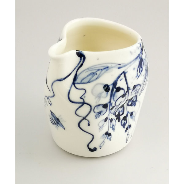Wisteria and Bees porcelain  hand painted  pouring jug 044
