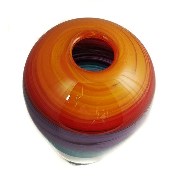 Teoría del color del atardecer Forma de vidrio 7