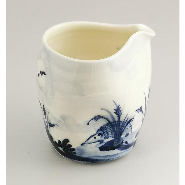 Jarra de porcelana de erizos pintada a mano 046