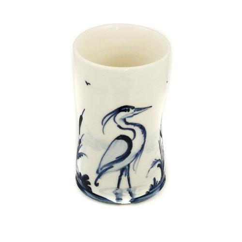 Mia Sarosi Garza de porcelana Garza pintada a mano 050