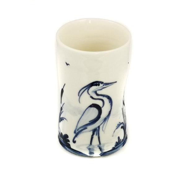 Herons Porzellan handbemalter Blumenstrauß Topf 050