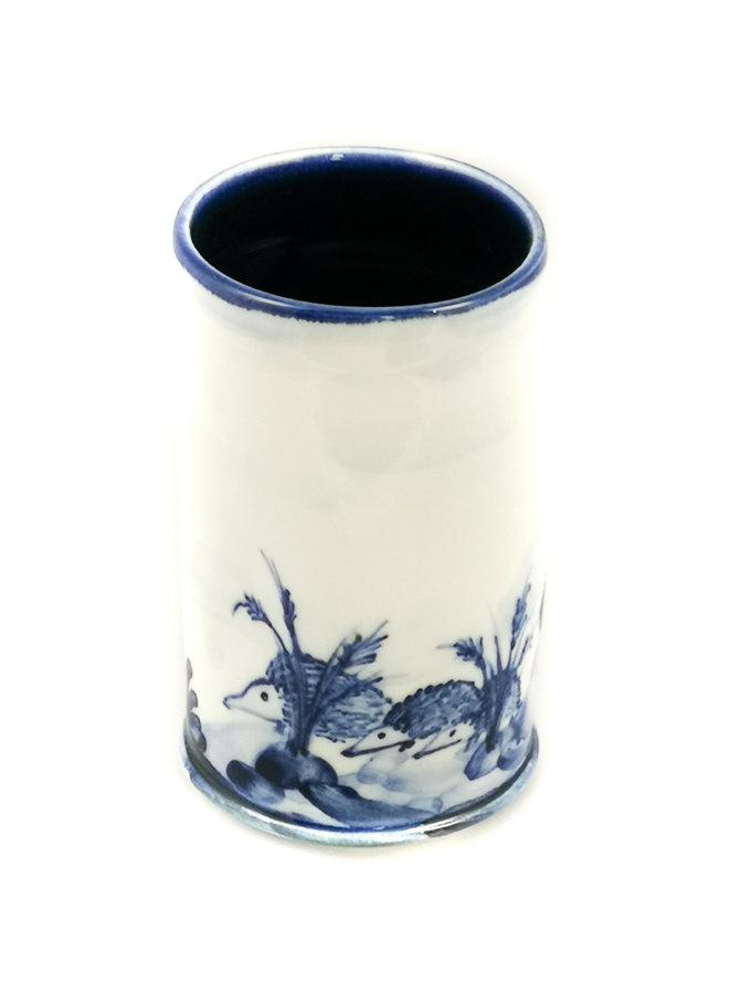 Handbemalter Blumenstrauß-Topf 051 des Igelporzellans