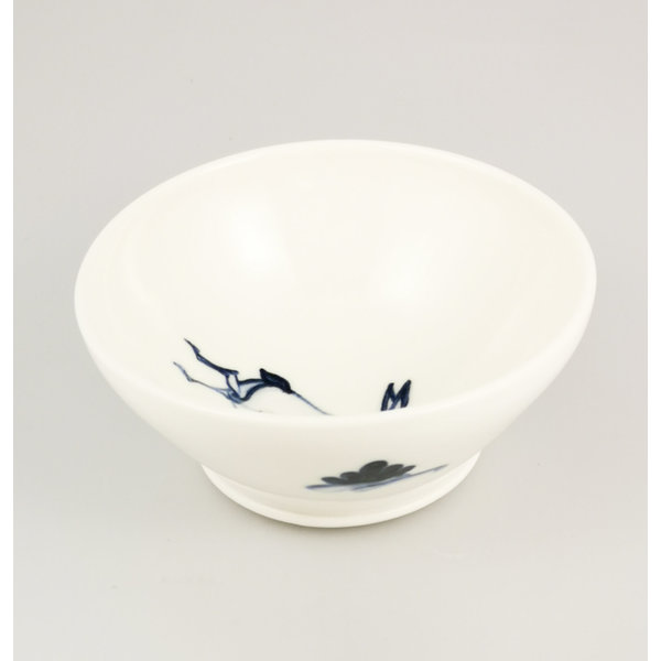 Hare porcelain  hand painted  tiny bowl 060