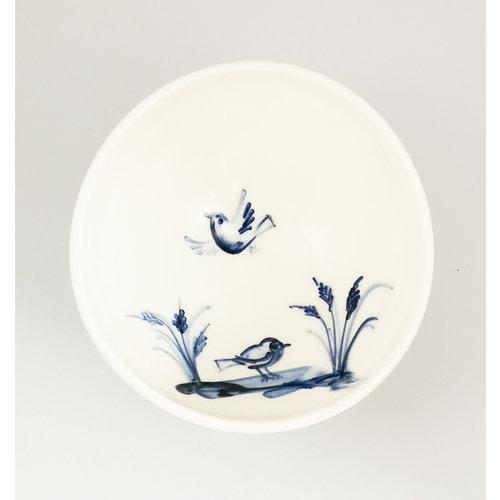 Mia Sarosi Pájaro porcelana pintada a mano cuenco pequeño 055