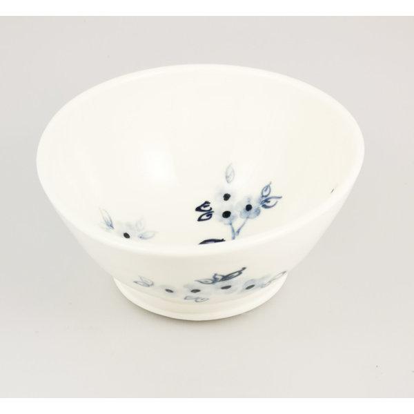 Vögel auf Kirsche Porzellan handgemalte winzige Schüssel 059