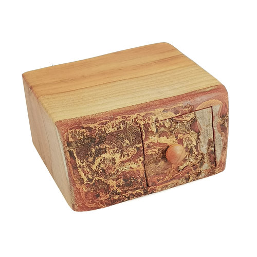 Hollytree Woodcrafts Holly Tree Wood Box Einzelschublade mit geheimer Schublade 01