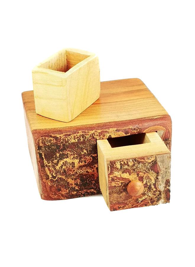 Holly Tree Wood Box Einzelschublade mit geheimer Schublade 01