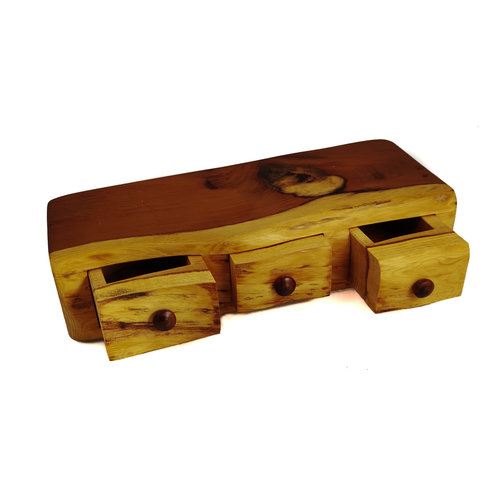 Hollytree Woodcrafts Yew Wood Box tree drawer drawer 08