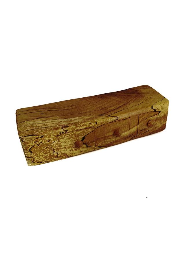 Spalted Beech Box drei Schubladen und geheime Schublade 10