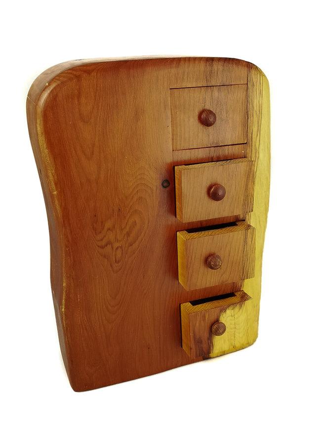 Yew Tree Tower Box 4 Schublade mit 4 geheimen Schubladen 14