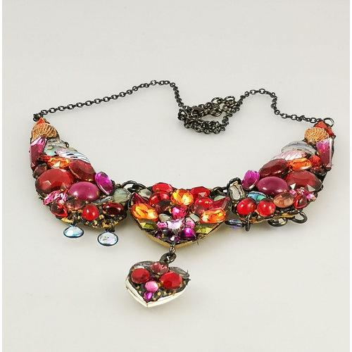 Annie Sherburne Collar vintage grande rojo 174