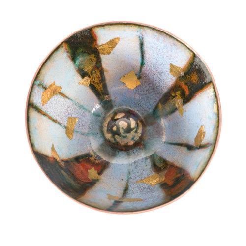 Pat Johnson Enamelled Copper Bowl 157