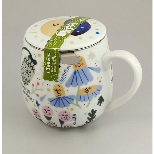 Konitz Tea for You set mug, sieve and cover