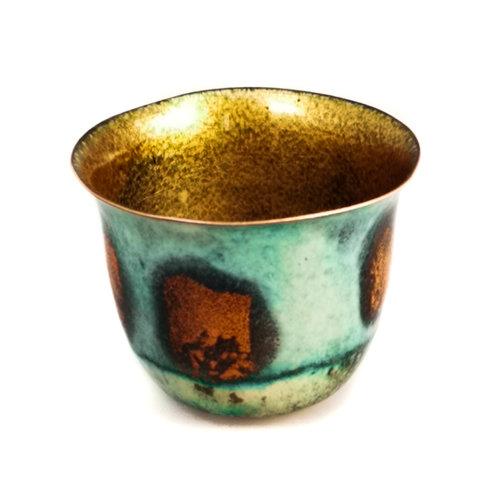 Pat Johnson Enamelled Copper Bowl unique 159