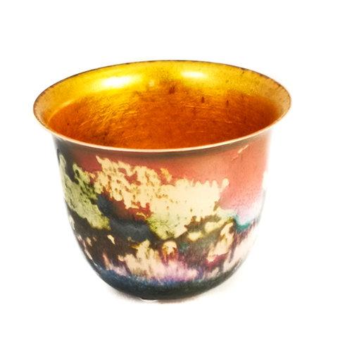 Pat Johnson Enamelled Copper Bowl unique 160