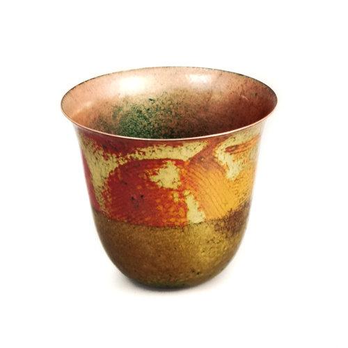 Pat Johnson Enamelled Copper Bowl unique 165