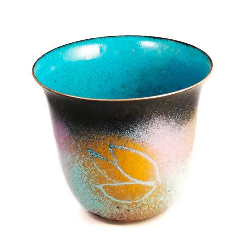 Pat Johnson Enamelled Copper Bowl unique 166