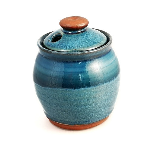 R B Ceramics Garlic pot with lid 022