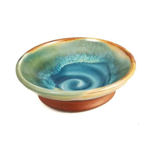 R B Ceramics Mini Tapas dish sandy  swirl 044