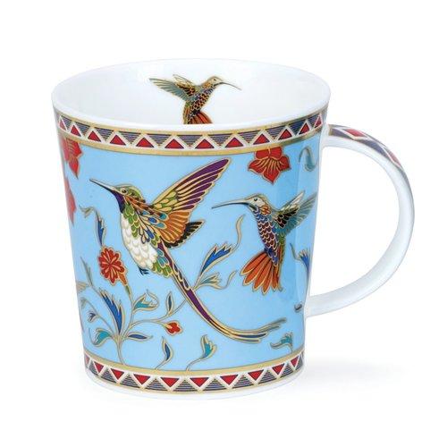 Dunoon Ceramics Taza azul exótica de los pájaros Zayna de David Broadhurst 74