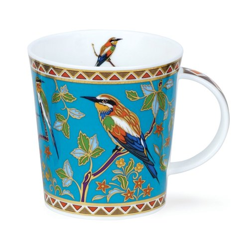 Dunoon Ceramics Taza turquesa Zayna de pájaros exóticos de David Broadhurst 75