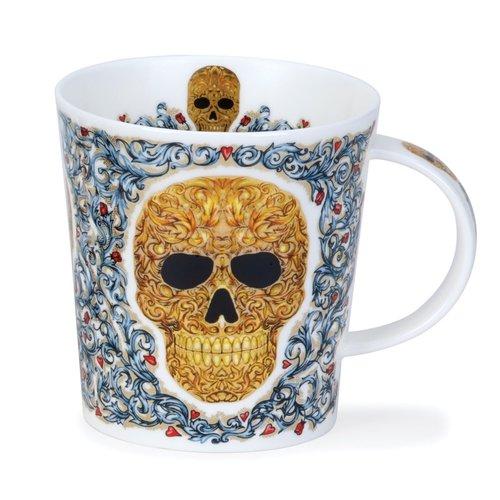 Dunoon Ceramics Taza Golden Skull Elysium de Caroline Dodd 79