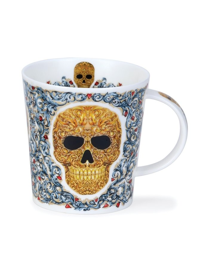 Golden Skull Elysium Mug von Caroline Dodd 79