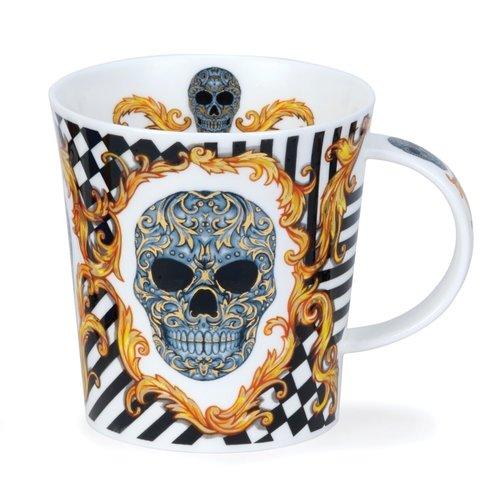 Dunoon Ceramics Silver Skull Elysium Mug von Caroline Dodd 80