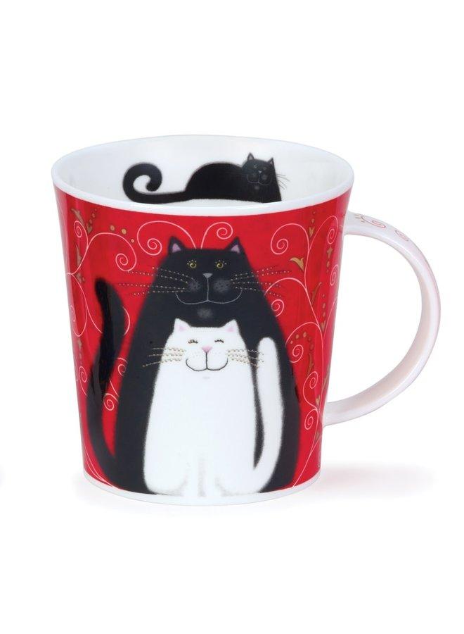 Cats Grey, Black and White Mug von Kate Mawdeley 82