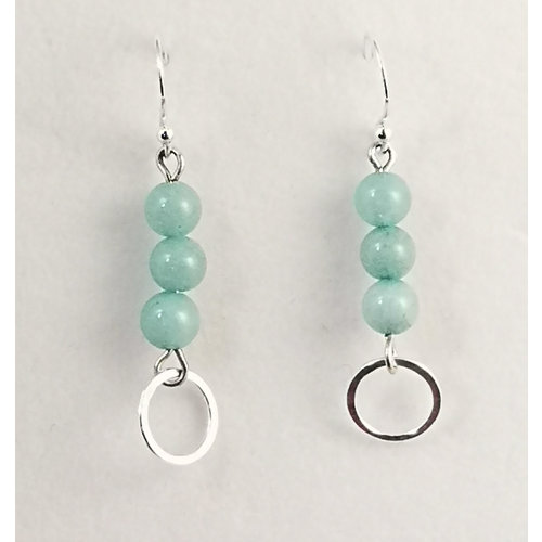 Melissa James Aquamarine and silver drop earrings 113